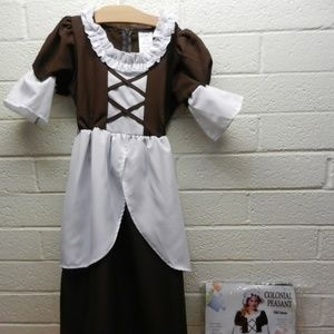 Colonial Peasant Girl Child Costume Size L 12-14